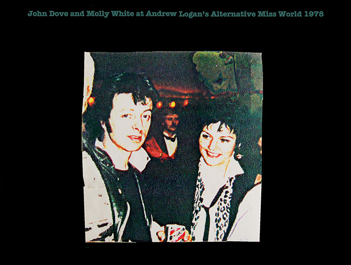 John Dove and Molly White at Andrew Logan's Alternative Miss World 1978